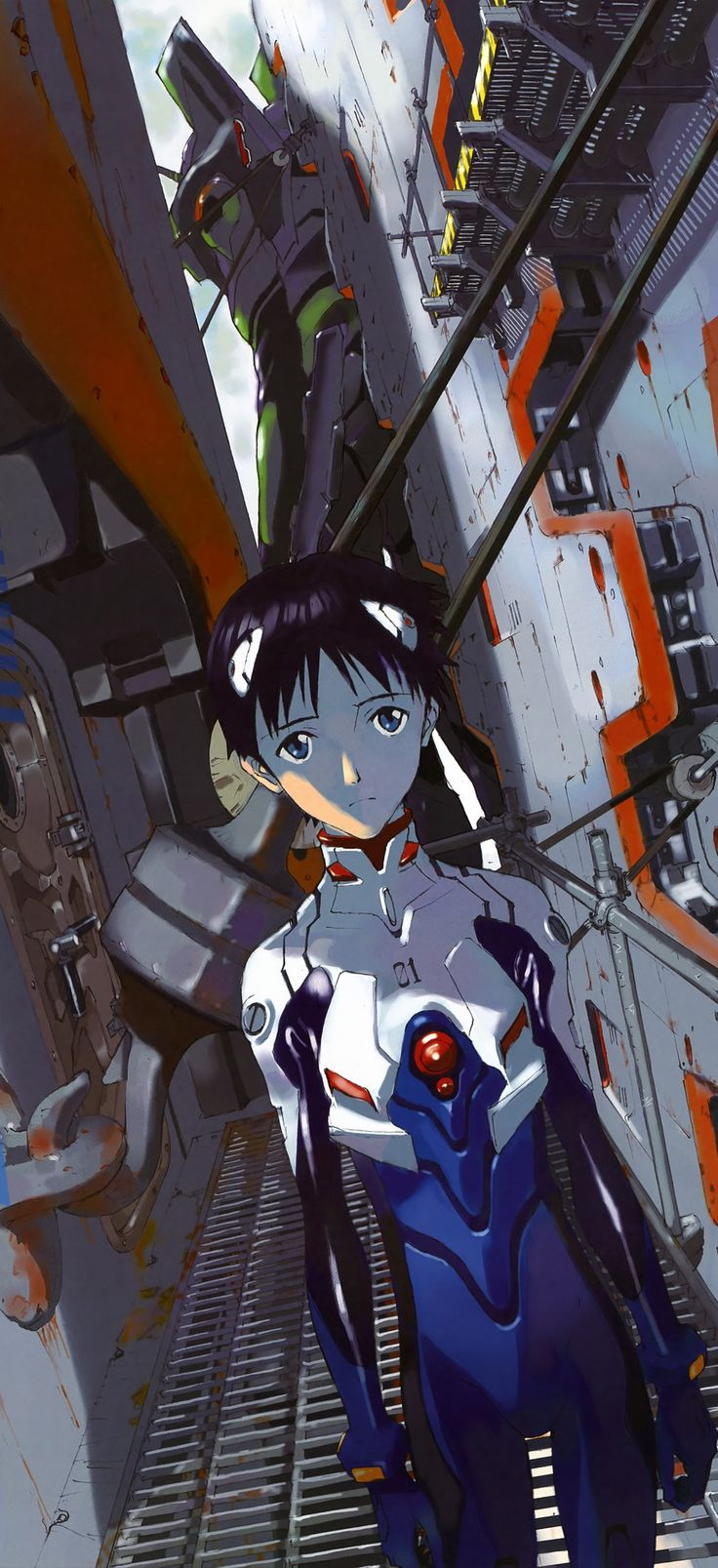 Neon Genesis Evangelion: Shinji Armour in anime The armour for boys look a lot more rigid (so probably more protective, how sexist) but they have the same powers as the girls so it actually doesn't make much difference