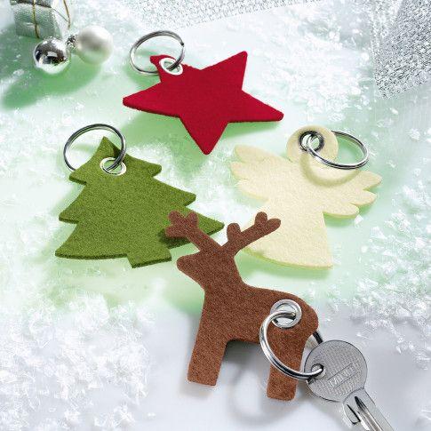 Filz-Schlüsselanhänger, mit Schlüsselring Katalogbild