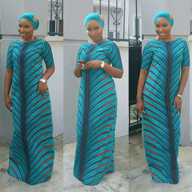 C a long dresses using ankara