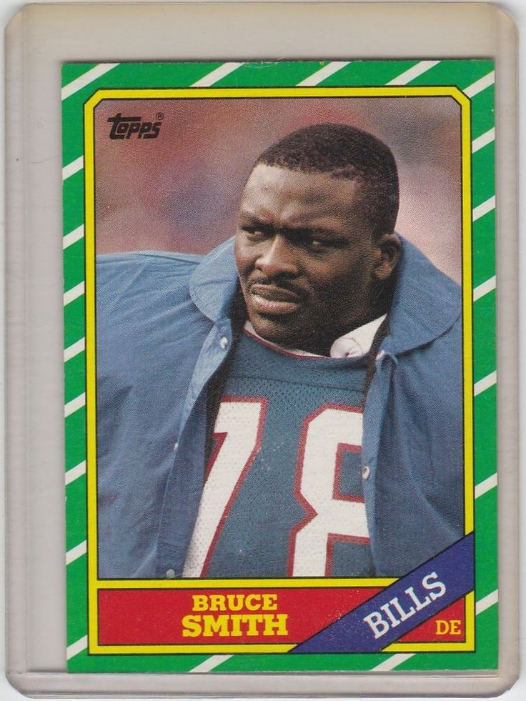 Bruce Smith 1986 Topps  #389  RC Rookie NM - Free Shipping #BuffaloBills