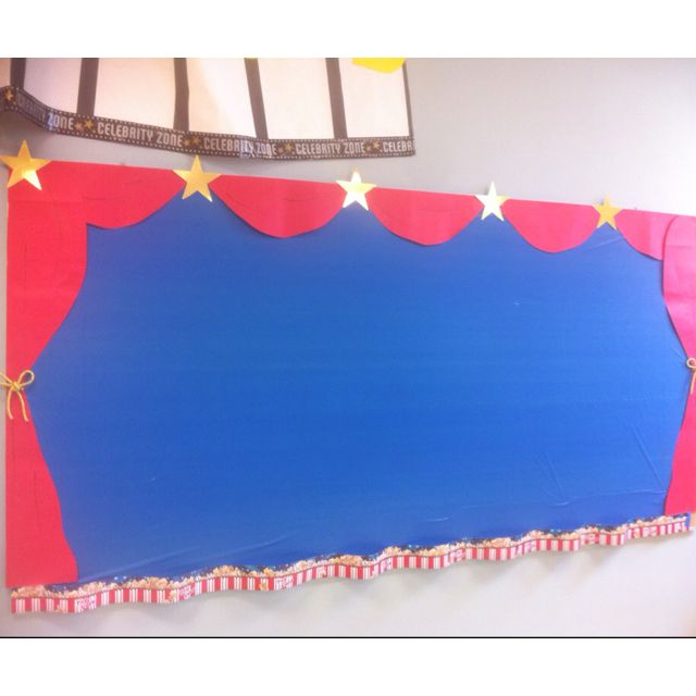 Bulletin board Hollywood theme- school is just out and here we are preparing for next year!                                                                                                                                                     More