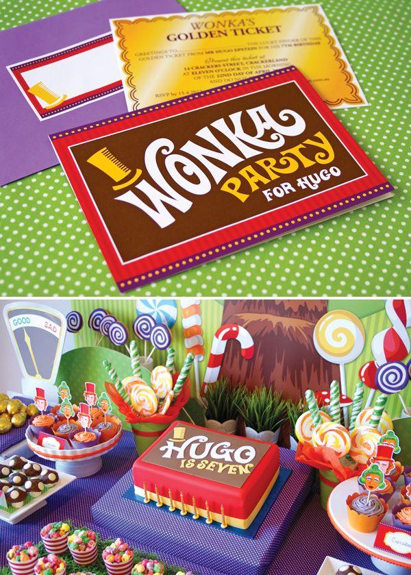 Festa com tema de Willy Wonkar da Fantástica Fábrica De Chocolate