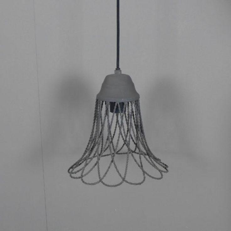 Stoere hanglamp van draadstaal