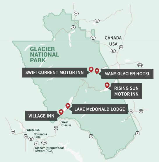 Glacier National Park Lodges: Lodging & Accommodations in the park.