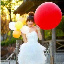 90 см 36 Inch Гигантские Большой Воздушный Шар Латекса День Рождения Свадьба Гелия Украшения дети надувные Супер большие Воздушные Шары Игрушки(China (Mainland))