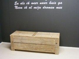 Speelgoedkist van steigerhout 150x50x50cm (22131447)