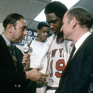 This Day In NBA History: 1970 - The New York Knicks, inspired by the return of an injured Willis Reed to the starting lineup, win their first NBA Championship, defeating the Los Angeles Lakers, 113-99 in Game 7.  keepinitrealsports.tumblr.com  keepinitrealsports.wordpress.com