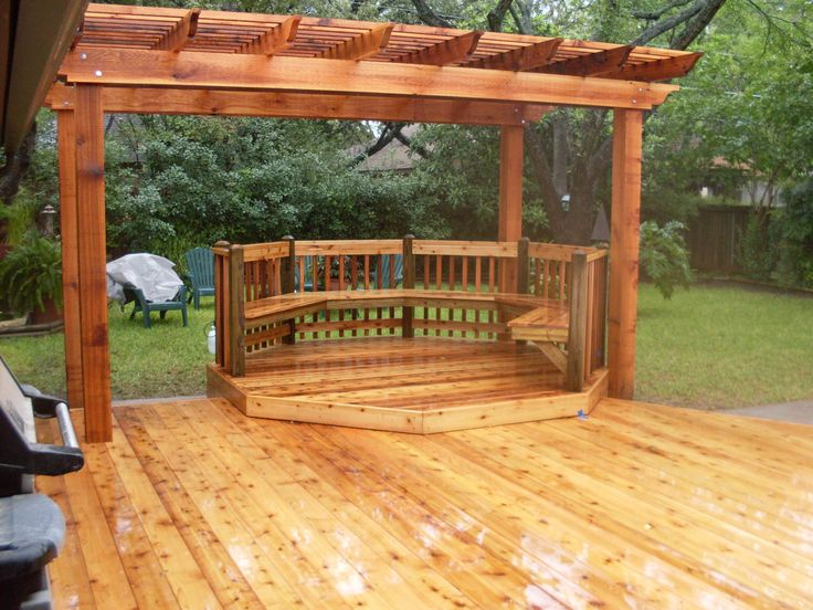 Patios And Decks Rustic Untreated Teak Cheap Above Ground Pools Wood  Pergola Above Wooden Benches And Hard Wooden Decks, Simple And Cheap Wood  Pool Decks ...