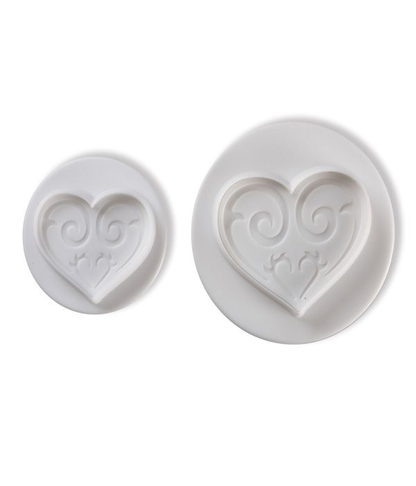 Dough - sugarpaste cutter HEART 3D set 2pcs.