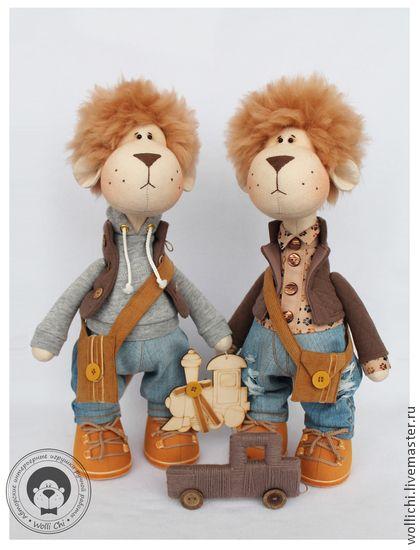 Лёвики - коричневый,горчичный,лев,львенок,игрушка в подарок,игрушка ручной работы