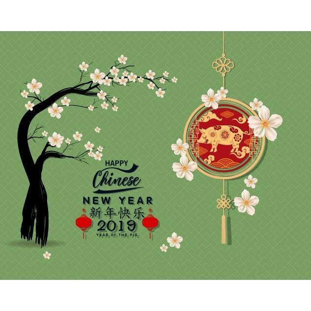 سعيد السنة الصينية الجديدة 2019 سنة الخنزير السنة القمرية الجديدة الحروف الصينية يعني سنة جديدة سعيدة Happy Chinese New Year Christmas Ornaments Chinese New Year