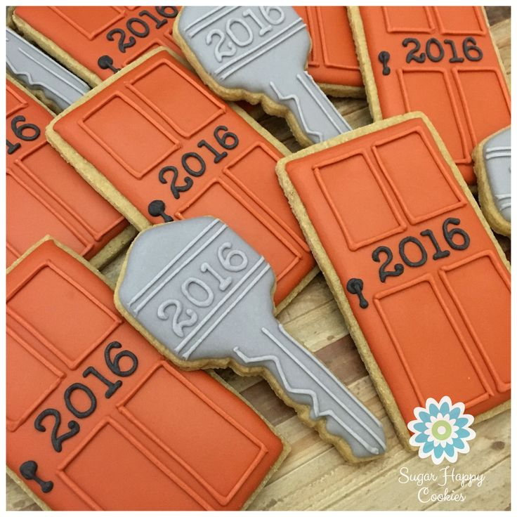 Sugar Cookies, front doors, keys, corporate meeting treats, house warming gift
