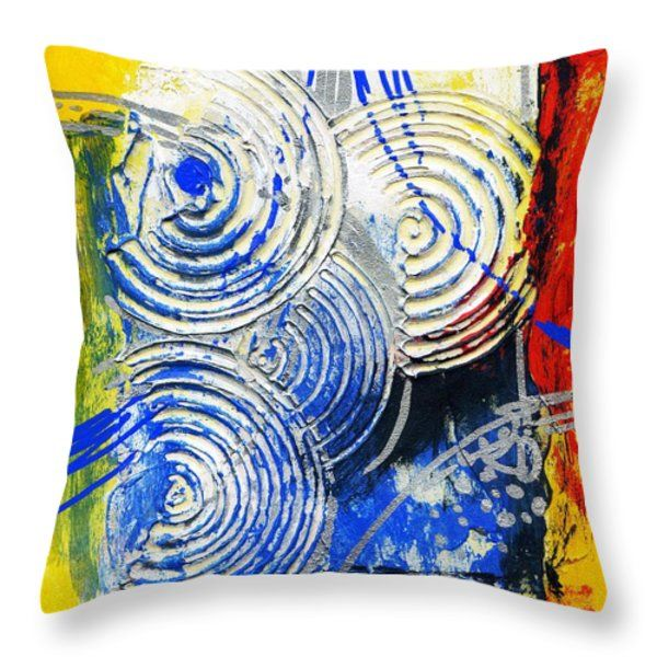 Throw Pillow featuring the painting Life Of Circle - IIi by Rupam Shah