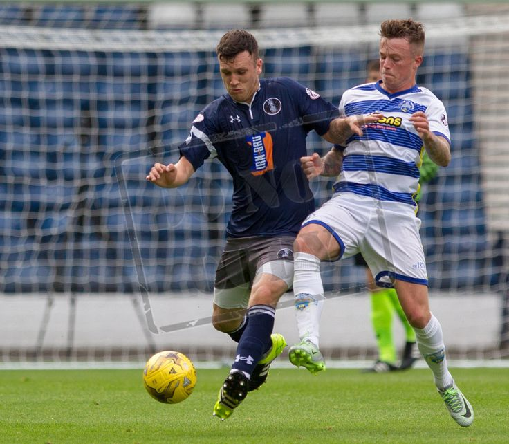 Queen's Park's Adam Cummins in action during the IRN-BRU Cup game between Queen's Park and Morton.