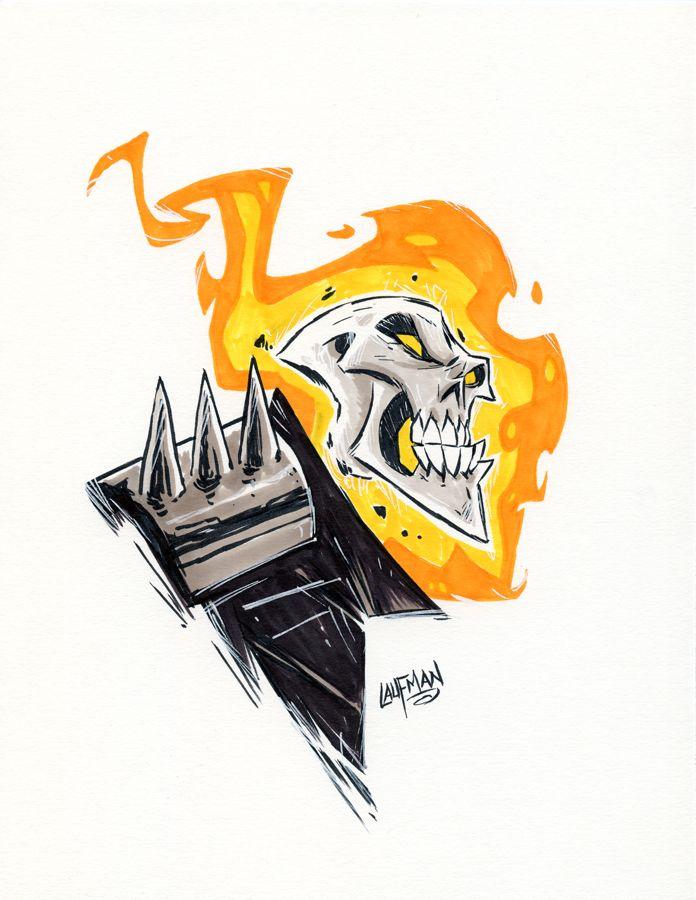 Inktober Day 28 - Ghost Rider by DerekLaufman on DeviantArt