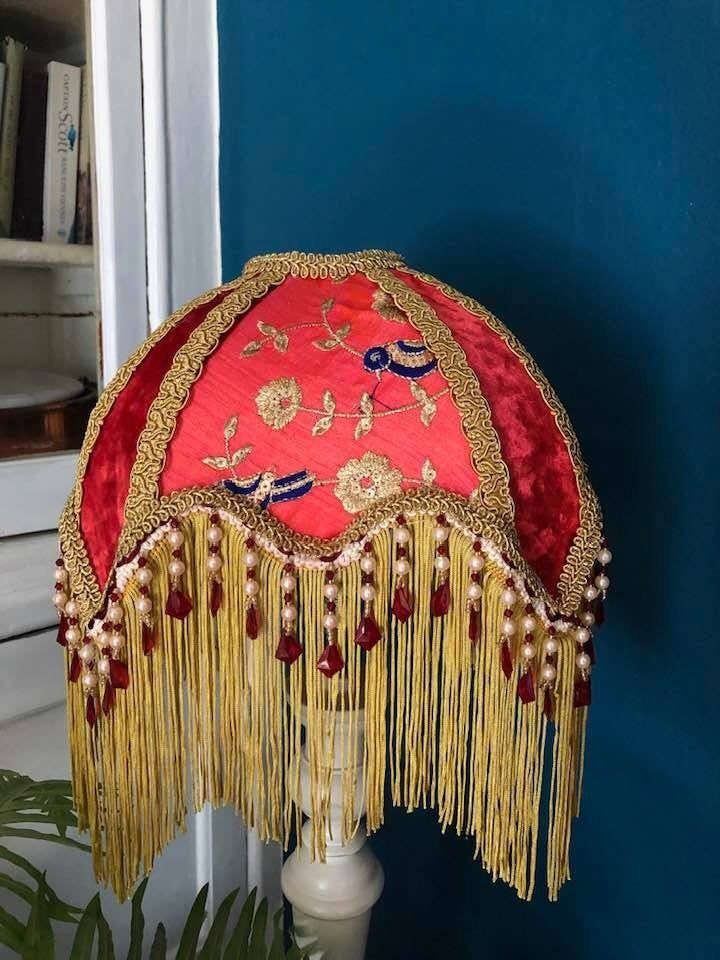 Lamp Shade With Fringe Victorian Lamps Victorian Lampshades Vintage Lamps