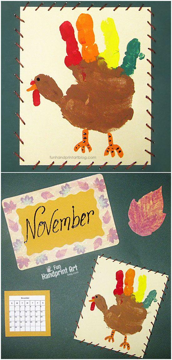 Thanksgiving Calendar Art : Best handprint calendar preschool ideas on pinterest