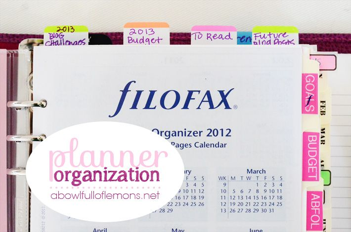 How to Organize Your Planner by A Bowl Full of Lemons