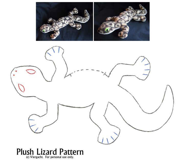 Plush Lizard Pattern by *viergacht on deviantART