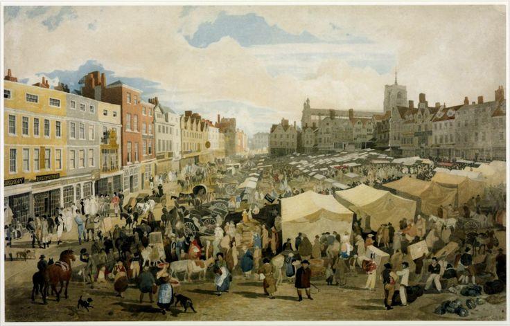 Norwich Market place c 1809 John Sell Cotman