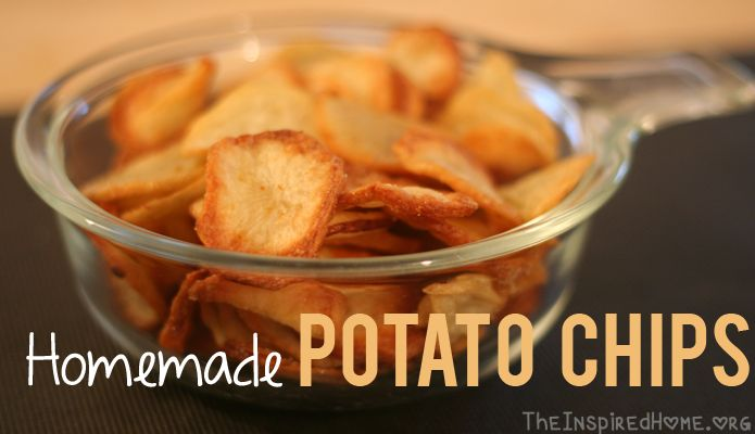An easy healthy way to make homemade potato chips using the T-Fal ActiFry and a small amount of cold pressed oil.