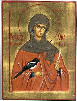 St. Oda of the Peel (Oda of Brabrant) - celebrated on November 28.  Icon by the Convent of the Nativity of the Mother of God, Asten, the Netherlands.