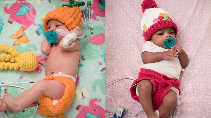 Nurse Tara Fankhauser knitted over 30 Halloween costumes for infants in the Neonatal Intensive Care Unit at an Atlanta hospital.