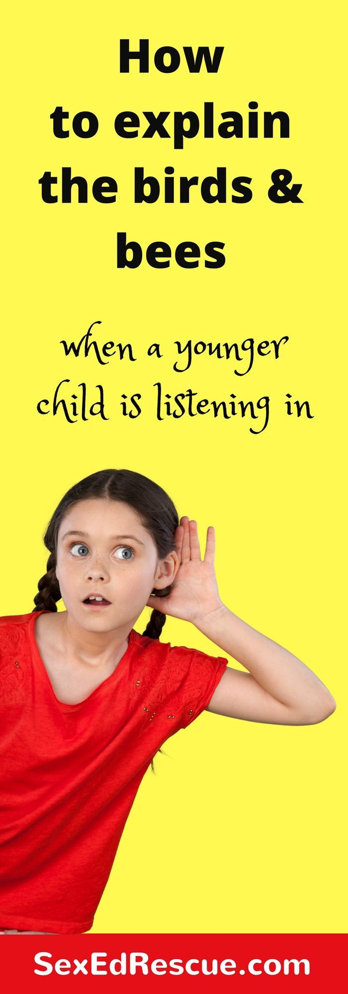 How to explain the birds and bees when younger children are listening in, can be challenging for many parents. But does it matter if they are listening in?