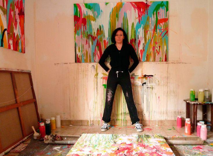 Isabelle Pelletane in her Studio, 2015 www.isabellepelletane.com