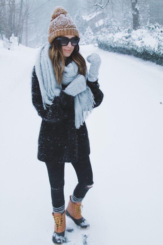 OUTFITS LINDOS PARA LOS DÍAS NEVADOS Hola Chicas!!! Les dejo una galeria de fotografias y consejos outfits muy lindos para los dias nevados.