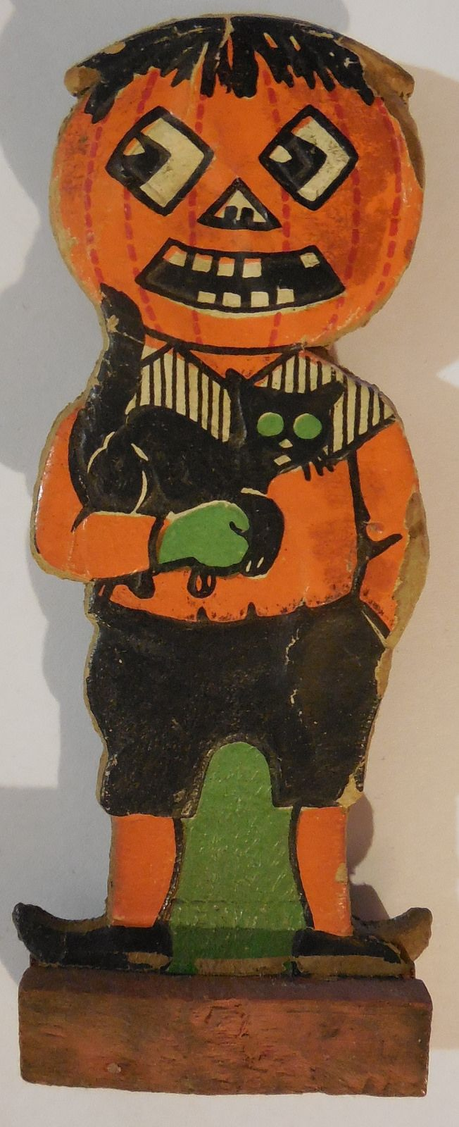Vintage halloween paper decorations - Vintage German Halloween Skittle