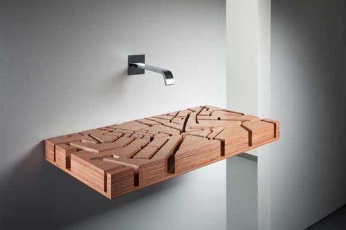 Креативная раковина для ванной комнаты в виде объемной карты города от дизайнера Юлии Кононенко