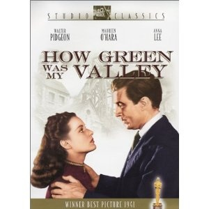 Academy Awards Best Picture 1941: How Green Was My Valley  **Other Nominees: Blossoms in the Dust, Citizen Kane, Here Comes Mr. Jordan, Hold Back the Dawn, The Little Foxes, The Maltese Falcon, One Foot in Heaven, Sergeant York, Suspicion