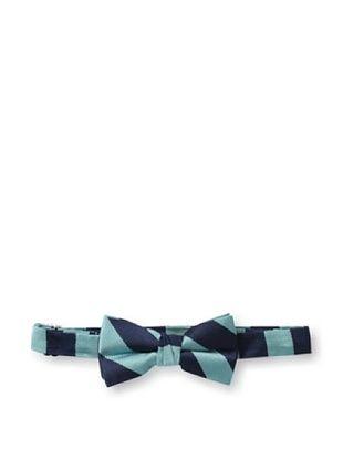 43% OFF Urban Sunday Kid's Aqua/Navy Stripe Bow Tie (Aqua/Navy)