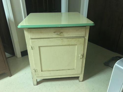 Vintage-Enamel-Porcelain-Top-Cabinet-Cupboard
