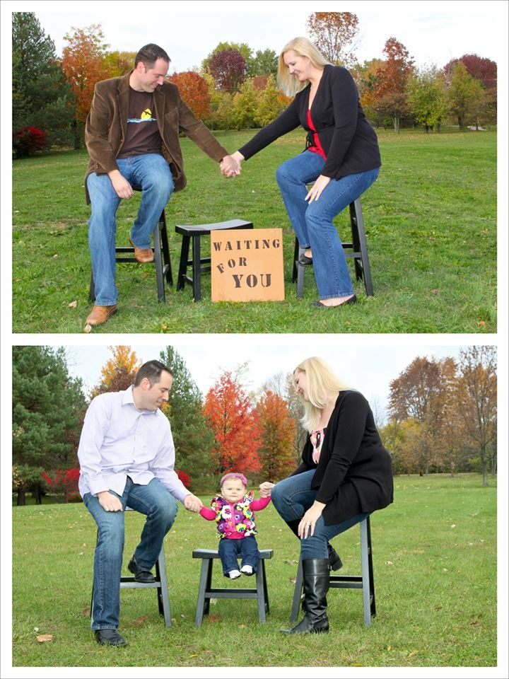 We love our baby! Before and after adoption photo shoot...what a difference a year can make! #adoption #babyadoption #domesticadoption