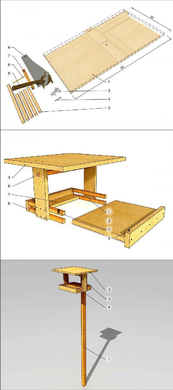 karmnik dla ptaków/ bird table, bird feeder, #DIY, #MFP