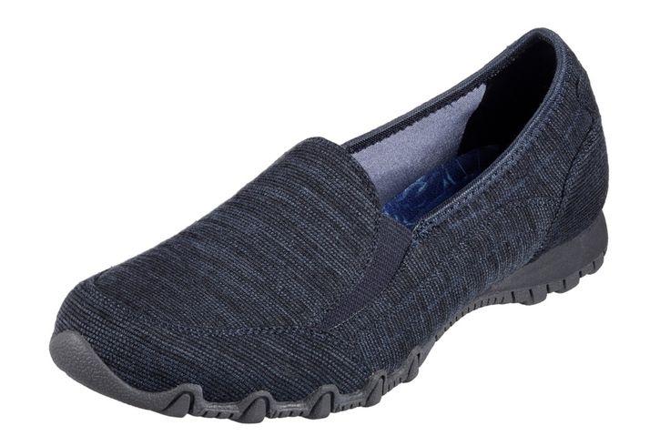 Skechers Bikers Lounger Navy Memory Foam Women's Loafer Shoes