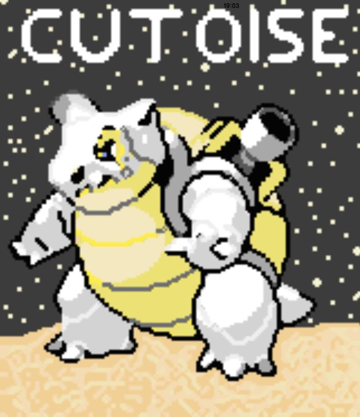 Here is another of my pixel fusions of Cubone and Blastoise