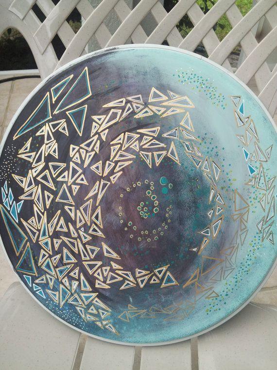 手机壳定制outlet stores locations Custom Painted Drum Head by xjackie art on Etsy