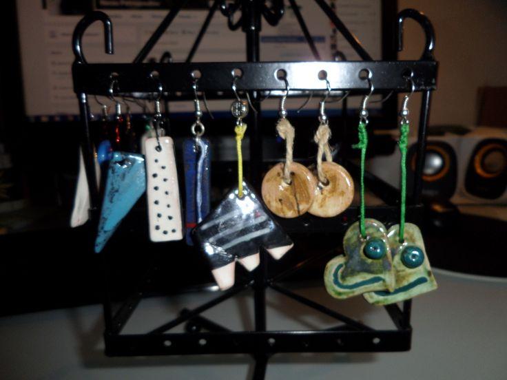 ceramic forms / earrings