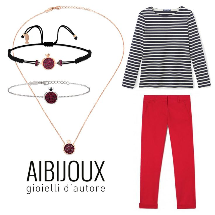 Collana e bracciali Kurshuni, Pantaloni Benetton, maglia a righe Petit Bateau #AIBIJOUX #Kurshuni #outfits #fashionjewelry #ilnostrooutfit #PetitBateau #Benetton
