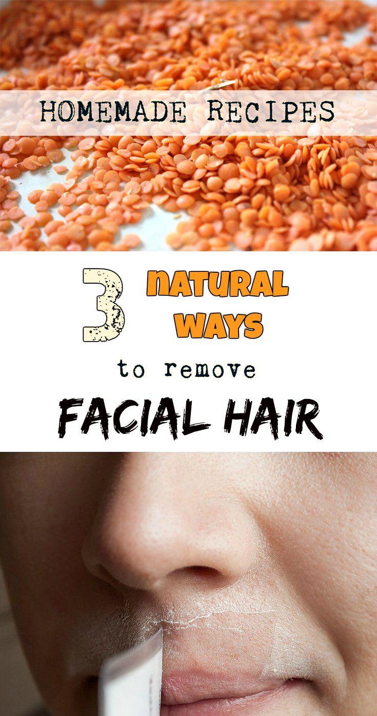 3 natural ways to remove facial hair (homemade recipes ...