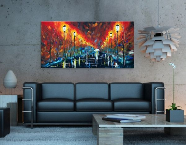 Vászonkép nappaliba. Hangulatos otthonod tökéletes dekorációja festett vászonképekkel. Cikkszám: 5485