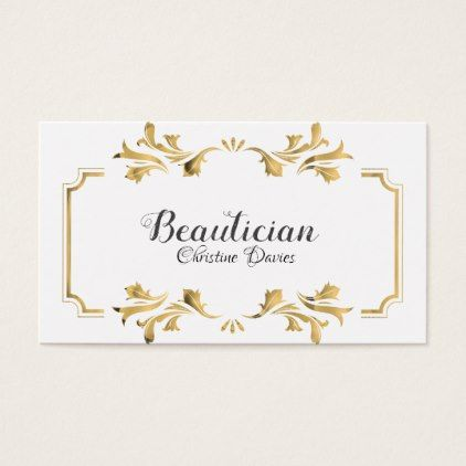 Golden Victorian frame business card - elegant gifts gift ideas custom presents