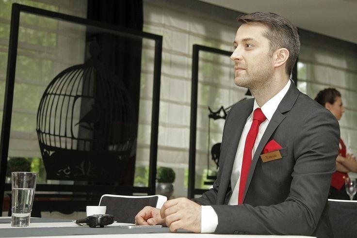 "Filib Bobek na planie serialu ""Hotel 52"""