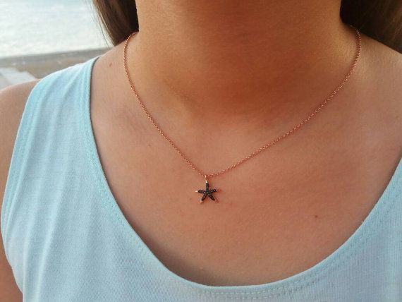 Check out this item in my Etsy shop https://www.etsy.com/listing/472724295/starfish-necklace-rose-gold-necklace