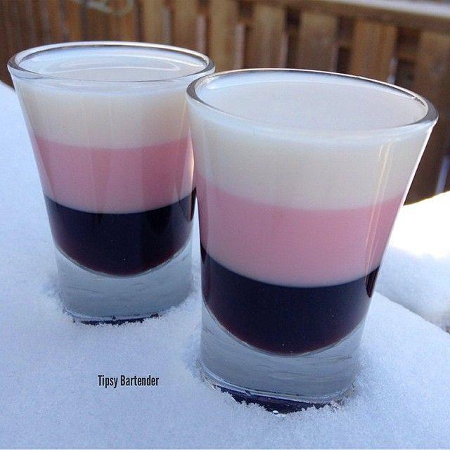 Neapolitan Dynamite Shots....Kahlua              Tequila Rose White Godiva Chocolate