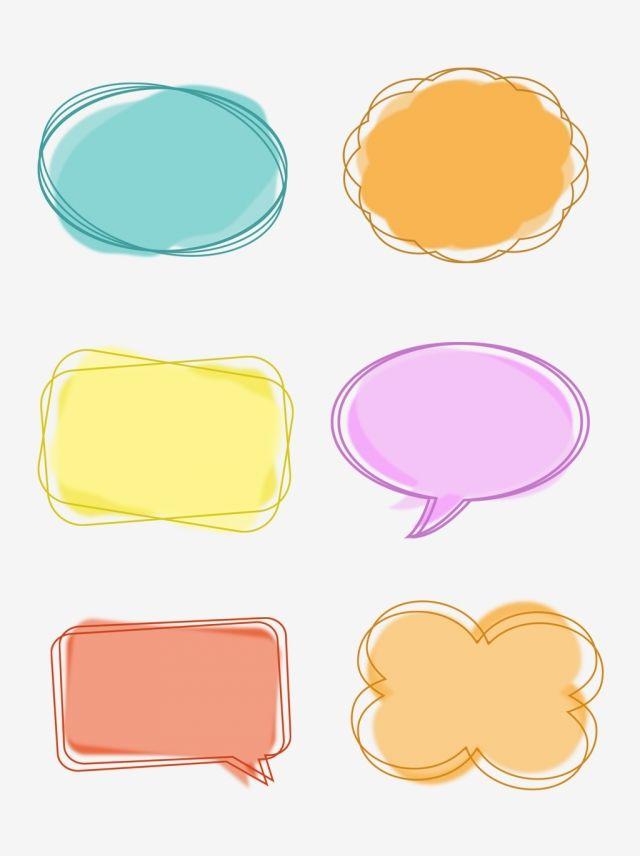 Simple Cartoon Cute Dialog Bubble Border Box Round Frame Conversation Dialog Bubble Session Box Png Transparent Clipart Image And Psd File For Free Download Dialogue Bubble Simple Cartoon Doodle Frames