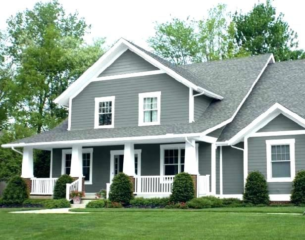 Gray House White Trim Brown Roof Gray House Brown Roof Siding Colors For Houses With Brown R House Paint Exterior Modern Farmhouse Exterior Gray House Exterior